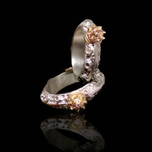 Crowned Moons Ring